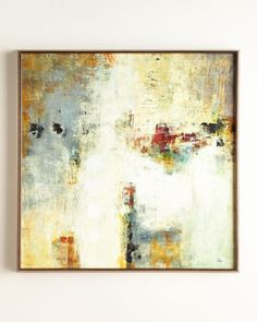 """Shop """"Connectivity"""" Framed Abstract Giclee on Canvas Wall Art at Horchow, where you'll find new lower shipping on hundreds of home furnishings and gifts. Abstract Canvas, Canvas Wall Art, Modern Art, Contemporary Art, Oeuvre D'art, Abstract Landscape, Painting Inspiration, Collage, Art Prints"""