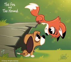 50 Chibis Disney : Fox n Hound by princekido on DeviantArt