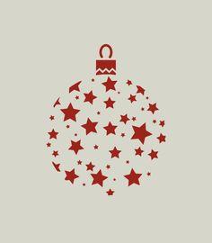 Boule de Noël. Décoration de Noël. Pochoir en vinyle adhésif (ref 175) : Décoration d'intérieur par larabesque