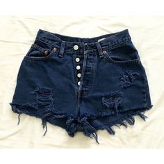 High Waist Vintage Levi Denim Fringe Cutoff Ripped Grunge Punk Beach... ($35) ❤ liked on Polyvore featuring shorts, dark olive, women's clothing, destroyed denim shorts, high-waisted denim shorts, high waisted cut off shorts, distressed high waisted shorts and short shorts