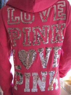 victoria+secret+hoodies+pink