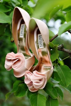 These are one of Lauren's two pairs of shoes for her wedding.