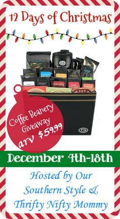 Sip your way to the perfect Christmas gift with a Signature Gift Basket from Coffee Beanery! Enter now for your chance to win your own Signature Gift Basket