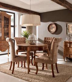 Espacios casas nuevo estilo revista de decoraci n estudio luisa olazabal madrid dining - Muebles san vicente ...
