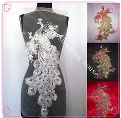 Cheap accessories black, Buy Quality clothing shoes & accessories directly from China clothing accessories Suppliers: Sewing accessories 38*62cm white white peacock sequins embroidery net Phoenix large cloth clothing DIY without glue