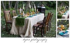 bohemian wedding table decor - Google Search