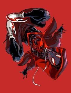 Miles Morales - Ultimate Spider-Man, Into the Spider-Verse Marvel Comic Universe, Marvel Art, Marvel Dc Comics, Marvel Heroes, Marvel Characters, Marvel Avengers, Ms Marvel, Captain Marvel, Black Spiderman