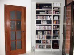 ikea billy hack, chalkboard paint, white blly Ikea Billy Hack, Ikea Hackers, Chalkboard Paint, Bookcase, Shelves, Bedroom, Diy, Inspiration, Home Decor