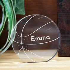 Personalized Engraved Basketball Keepsake