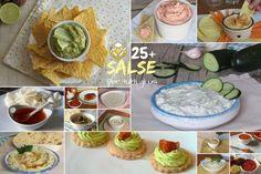 Raccolta di salse per tutti gli usi: crostini, pinzimonio, polpettone, insalate… Guacamole, Hummus, Carne, Barbecue, Hamburger, Buffet, Food And Drink, Mexican, Breakfast