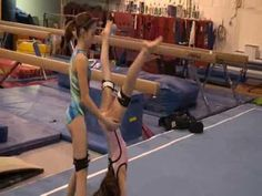 Gymnastics leg strength and conditioning training with resistance - YouTube