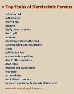 Narcissistic parents and alienation of kids from one parent