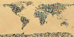 Paint Splatter World, Anja Knoche Tavlor, Glicée