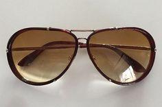Tom Ford Sunglasses (Men's Pre-owned Brown Aviator Designer Sun Glasses)