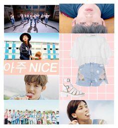 """""""아주 NICE - Seventeen"""" by theycallmebeatriz ❤ liked on Polyvore featuring Topshop, Alice McCall, musicvideo, seventeen, verynice and mv"""