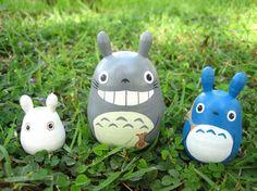 Set of 3 TOTORO DOLL Studio Ghibli mini figure model toy 1 on Etsy, $19.57 AUD