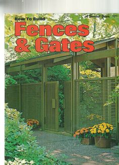 Sunset Mid Century Modern How to Build Fences and Gates Plans | eBay
