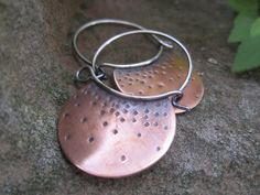 Starlight - Copper and Sterling Earrings.