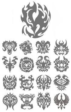 Excellent simple ideas for your inspiration Cool Symbols, Magic Symbols, Glyphs Symbols, Zed Wallpaper, Logo Design, Graphic Design, Magic Circle, Symbolic Tattoos, Body Art Tattoos