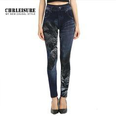 S-XL High Elastic Women Leggings Black Cat Imitation Jeans Pattern Fashion Slim Seamless Pants Trousers Denim Leggings  #beauty #shopping #stylish #fashion #instalike #ootd #instastyle #iwant #dress #sweet