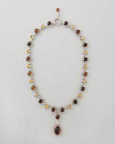 Komstantino Ilios Cognac Pendant Necklace - Neiman Marcus