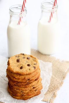 Coconut flour cookies are for just about anyone to eat - they are gluten-free, dairy-free, grain-free, refined sugar-free, and egg-free.