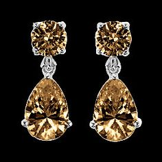 Check out the deal on chocolate brown diamonds dangle earrings 3.50 carats at Eco First Art