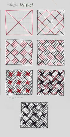 Wisket-Tangle Pattern | Flickr - Photo Sharing! Tangle Patterns, Tangled, Zentangles, Playing Cards, Doodles, Roll Ups, Zen Tangles, Zen Tangles, Doodle Art