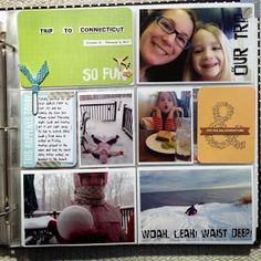 Painted Ladies Journal: Mommy Daughter Trip Project Life Spreads