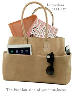 Leather bag Lampedusa...the fashion side of your business.  Tuscany Leather Made in Italy