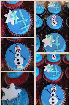 Olaf cupcakes .  #frozen # Olaf #Disneyfrozen
