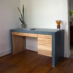 Holland Modern Concrete Desk by CrumpandKwash on Etsy