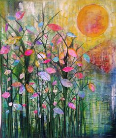 A Mixed Media piece…Good Morning..by Robin Mead