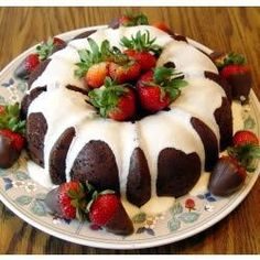 """Double Chocolate Brownie Cake I """"I baked this cake for my office, brought the cake in the morning and it was gone before lunch time."""""""