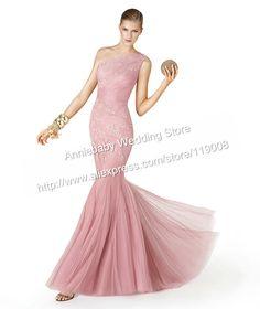 Luxury Dress New Fashion One Shoulder Mermaid Dress Evening Dresses Long 2014 $149.00