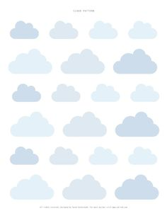 Cloud template by Sweet Paul Clipart, Silhouette Cameo, Cloud Template, Sweet Paul, Clouds Pattern, Digi Stamps, Free Printables, Scrapbooking, Creations