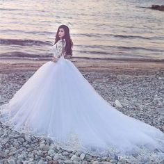 Exquisite Beaded Lace Mulsim Arabic Wedding Dresses 2017 Ball Gown Illusion Long Sleeves Sexy Back Plus Size Islamic Dubai Bridal Gowns 2017 Wedding Dresses Princess Wedding Dresses Arabic Wedding Dresses Online with $312.5/Piece on In_marry's Store | DHgate.com