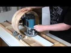 A simple jig I made for milling the inside of a drum shell using a router. http://www.facebook.com/murraydrums