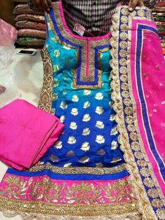 Blue N pink suit
