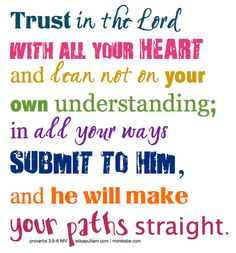 I'm learning to walk in the path of trust and meditating on this passage all month!  Will you join me?