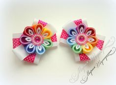 Одноклассники Kanzashi Flowers, Baby Headbands, Crafts, Craft Ideas, Accessories, Head Bands, Colors, Tela, Chrochet