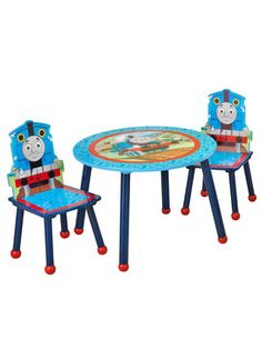 Take A Seat With Thomas And Friends! The Perfect Place For Play, This  Composite Wood Table And Two Chairs Offer Smart, Sturdy Construction And A  Darling ...