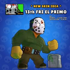 Friday the EL Primo - Rate this skin idea in the comments . Star Wallpaper, Wallpaper Iphone Disney, Star Character, Character Drawing, Battle Royale, Pokemon Memes, Clash Royale, Free Gems, Cartoon Games