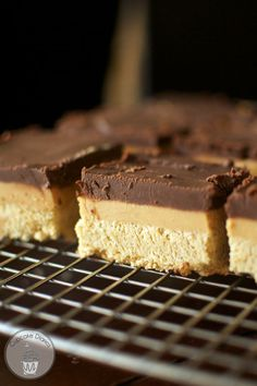 Chocolate Peanut Butter Cookie Bars - these look amazing!