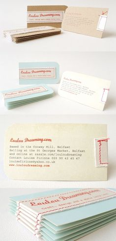 These can be for pretty business cards, or a small thank you note from a home made wedding.
