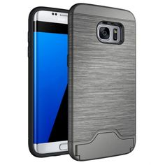 >> Click to Buy << for Samsung Galaxy S7 Edge Case Card Brush PC + TPU Hybrid Back Armor Cover With Cryptic Card Storage Slot Cell Phone Case #Affiliate
