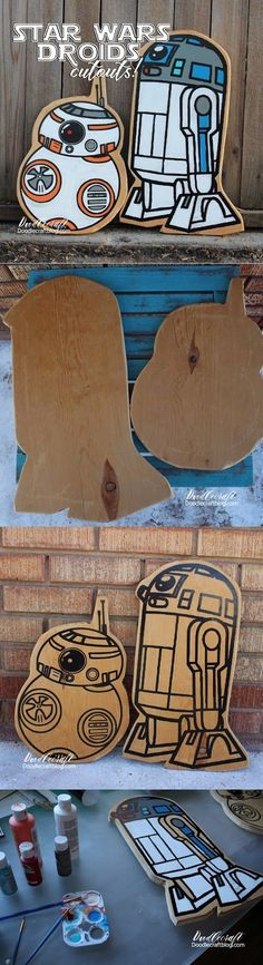 Doodlecraft: Star Wars R2D2 and BB8 Wood Cutouts!