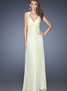 A-line Applique Top Open Back Chiffon Formal Dress/ Prom Dress Evwning Dress La Femme 20134