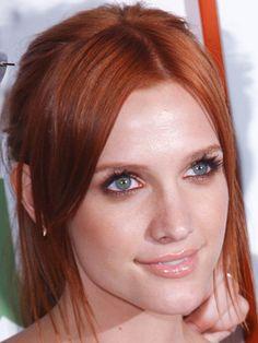 Les cheveux roux de Ashley Simpson