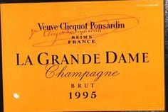 1995 Veuve Clicquot Ponsardin Champagne Brut La Grande Dame